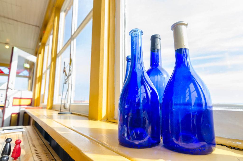 Hoponopono botella azul, ideal para preparar agua solar.
